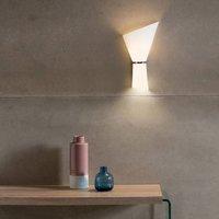 Perla wall lamp  two bulb  opal chrome