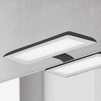 Nikita LED mirror light  black steel grey