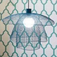 Forestier Papillon S hanglamp 56 cm blauw-grijs