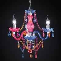 Multi col  Perdita chandelier with acrylic deco