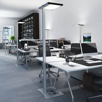 Luctra Vitawork LED office floor lamp 12000 lm PIR