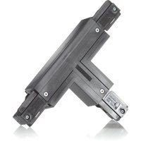 Eutrac T connector earth outside right  black