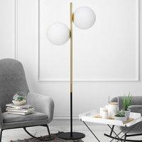 Jugen brass floor lamp 2 bulb