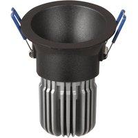 Toodle LED downlight round asymmetrical  black