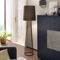 Black floor lamp Milan with pull switch