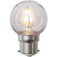 LED bulb B22 G45 1 3 W  break proof  clear  IP60