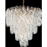 Molle hanging lamp with twisted glass elements