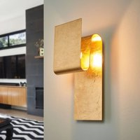 Escale Fold   a gold leaf covered wall lamp