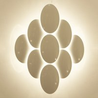 Pretty LED wall light Obolo dimmable   eight bulb