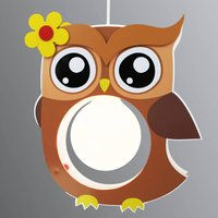 Brown Erna hanging light in the shape of an owl