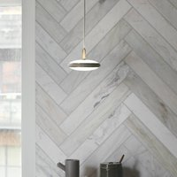 Shade  S1 pendant brass  cable white fabric Node