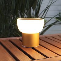 LED outdoor light Patio  gold  16 cm  1 USB port