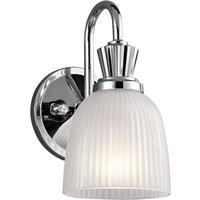LED bathroom wall light Cora  glass lampshade