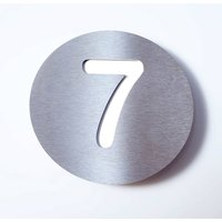 Stainless steel house number Round   7