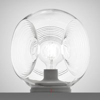 Eyes   glass table lamp with clear diffuser