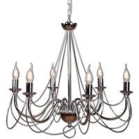 Retro chandelier  silver  6 bulb 120 cm suspension