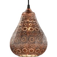 Copper coloured hanging lamp Jasmin