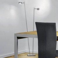 Bling LED floor lamp with dimmer  two bulb  chrome