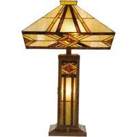 Bright table lamp Glenys Tiffany style