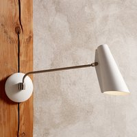 Northern Birdy   white retro wall light
