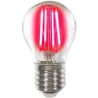 Coloured E27 4 W LED bulb filament  red