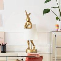 KARE Animal Rabbit table lamp gold white