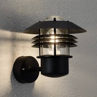 Beautiful outdoor wall lamp Vejers in black