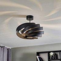 Vento ceiling light black   50 cm