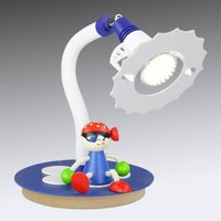 Pirate LED table lamp with a sitting figure