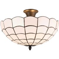 Wiebke ceiling lamp  white  Tiffany style