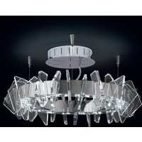 Ring shaped EOS LED ceiling light with glass