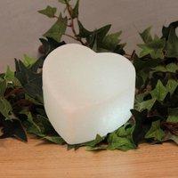 White Line LED heart made of salt crystals  white