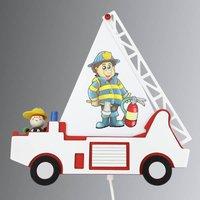 Fire Engine Fred children s wall light