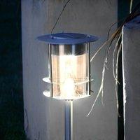 With ground spike    LED solar light Garden Stick