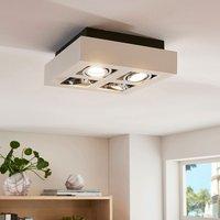 4 bulb square  white LED ceiling light Vince