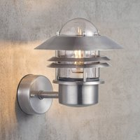 Outdoor wall lamp Blokhus made of stainless steel
