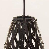 david trubridge Hinaki hanging lamp 50 cm black