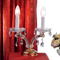 Tjura Table Light Noble with Crystals