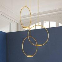 3 bulb  golden LED hanging light Odigiotto