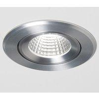 Agon Round LED downlight 3 000 K brushed aluminium