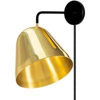 Nyta Tilt Wall Brass wall light with plug