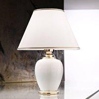 Giardino Avorio table lamp in white gold    25 cm