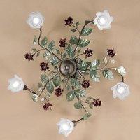 Rosaio ceiling light  round  five bulb