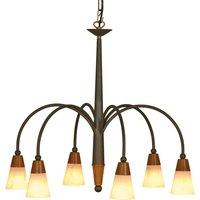 STELLA crown shaped hanging light  six bulb