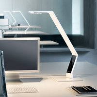 Luctra Table Linear LED table lamp white base