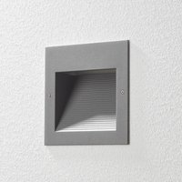 BEGA 24203 LED recessed wall light 3 000K silver