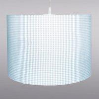 Pretty light blue Vichy checked hanging light