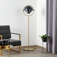 GUBI Multi Lite floor lamp brass black