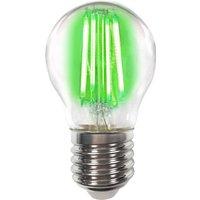 Coloured E27 4 W LED bulb filament  green