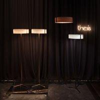LZF Thesis LED floor lamp black matt ivory